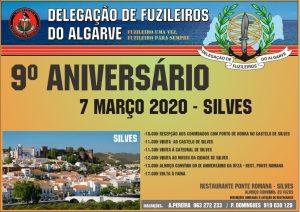 Convite IX Aniversário Delegação de Fuzileiros do Algarve