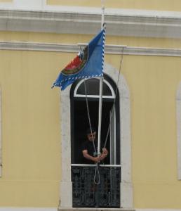 Cerimónia do içar da bandeira dos 400 anos dos Fuzileiros