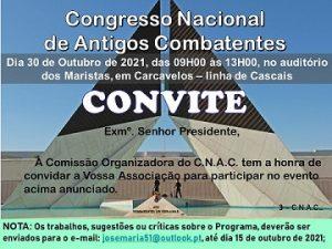 CONVITE Congresso de Combatentes
